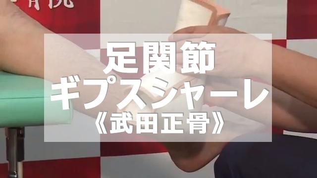 第17回 武田正骨式 足関節 ギプスシャーレ
