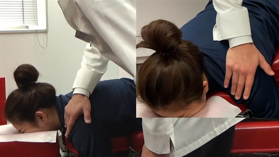 頭部側方変位 側屈変位(下向き)