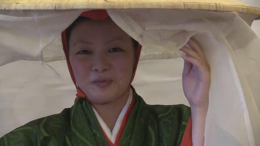 時代祭・常盤御前の衣装新調(2014年10月9日)