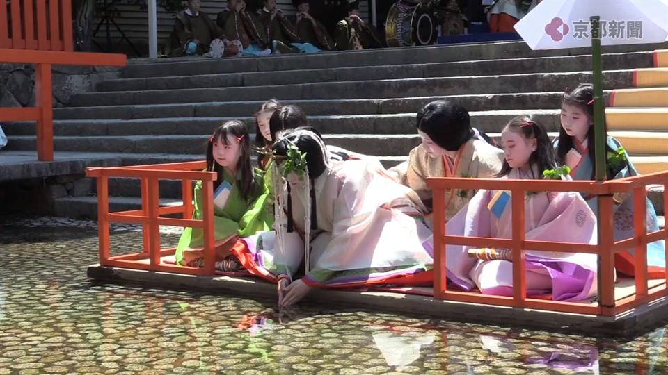 葵祭 御禊の儀(2019年5月4日 京都市左京区・下鴨神社)