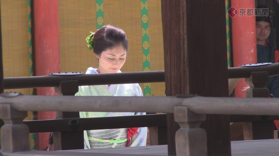 葵祭 社頭の儀に常盤貴子さんが参列(2019年5月15日)