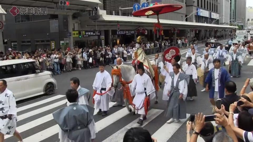 祇園祭・長刀鉾稚児「社参の儀」(2019年7月13日 京都市下京区)