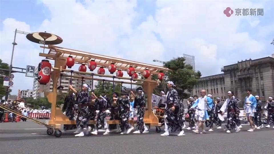 祇園祭・鷹山、193年ぶりに唐櫃で山鉾巡行に参加(2019年7月24日)