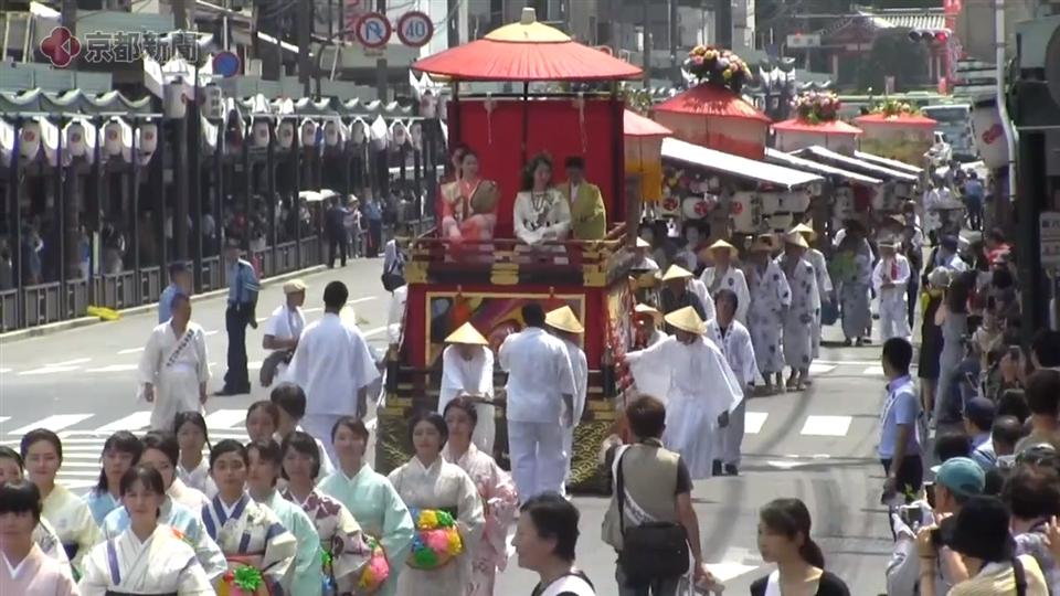 祇園祭・花傘巡行(2019年7月24日 京都市内)