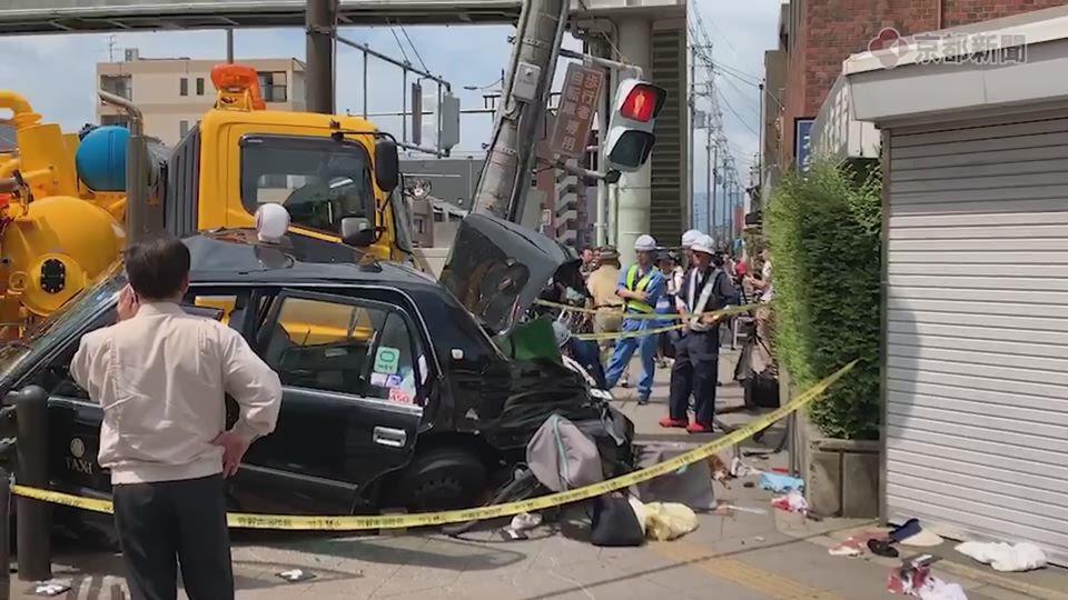 京都市内で多重事故、多数が負傷(2019年8月21日)