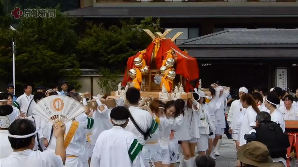 松尾大社・八朔祭 女神輿巡行(2019年9月1日 京都市西京区)