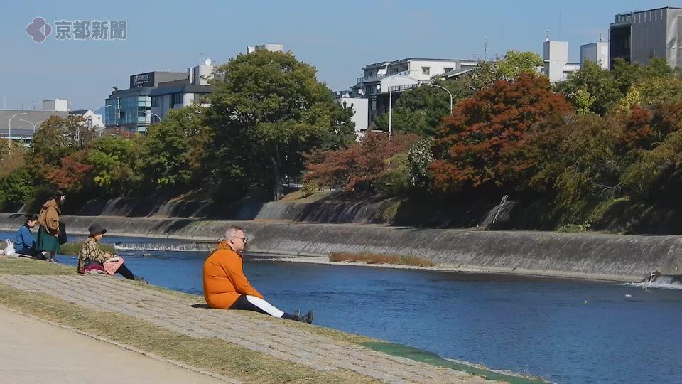 鴨川沿い(2019年11月6・7日 京都市内)