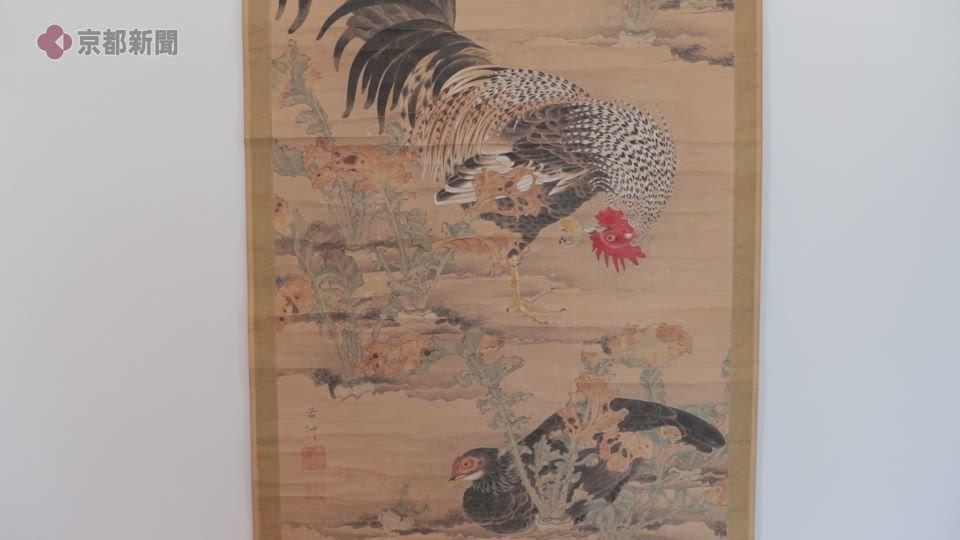 若冲・最初期の彩色作品を発見(2019年11月5日 京都市右京区)