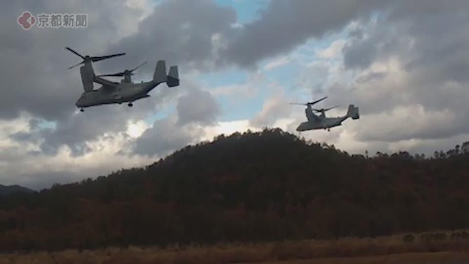 日米共同訓練でオスプレイ飛来(2019年12月3日 滋賀県高島市)