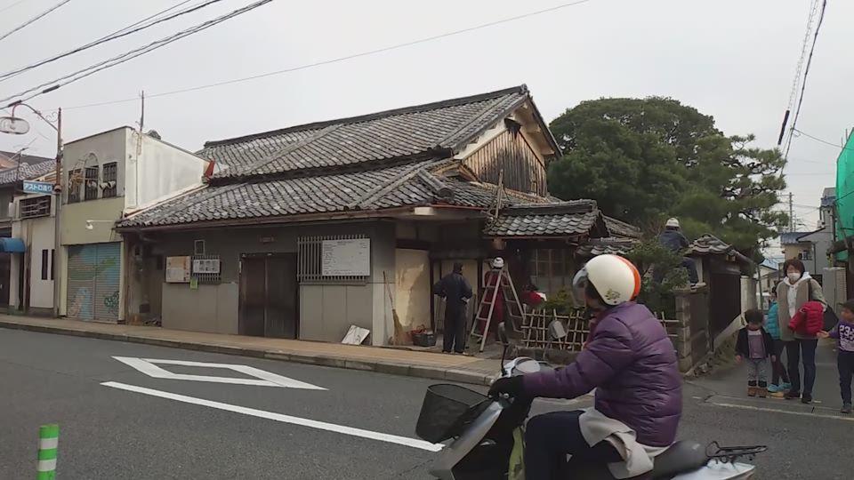 旧旅籠「富永屋」解体始まる(2020年1月14日、京都府向日市)