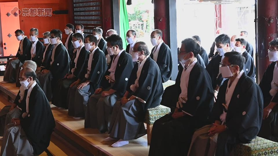 祇園祭の安全を祈願(2020年7月2日、京都市東山区・八坂神社)