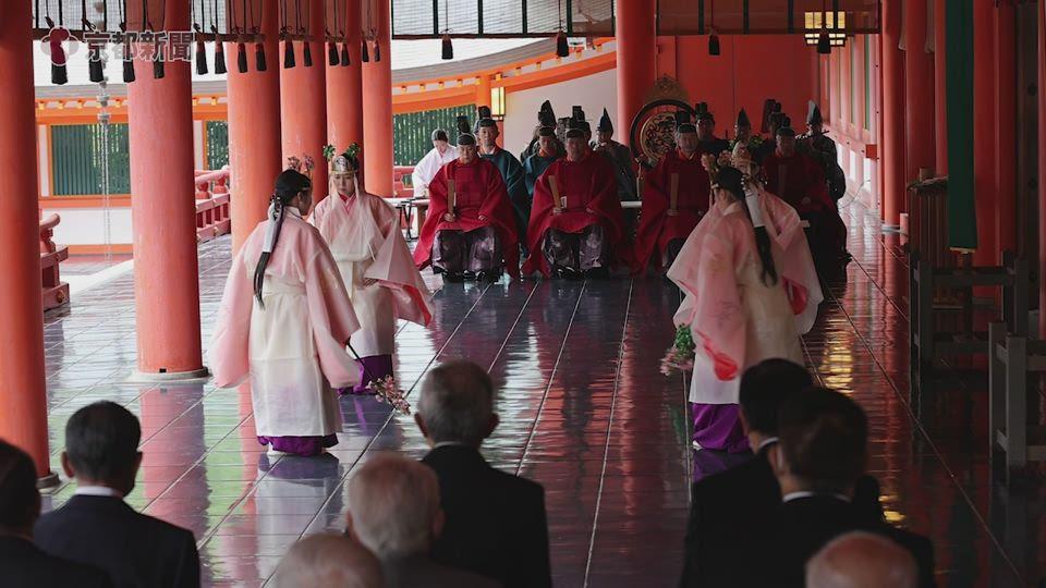 時代祭の本殿祭が営まれた(2020年10月22日、京都市左京区、平安神宮)