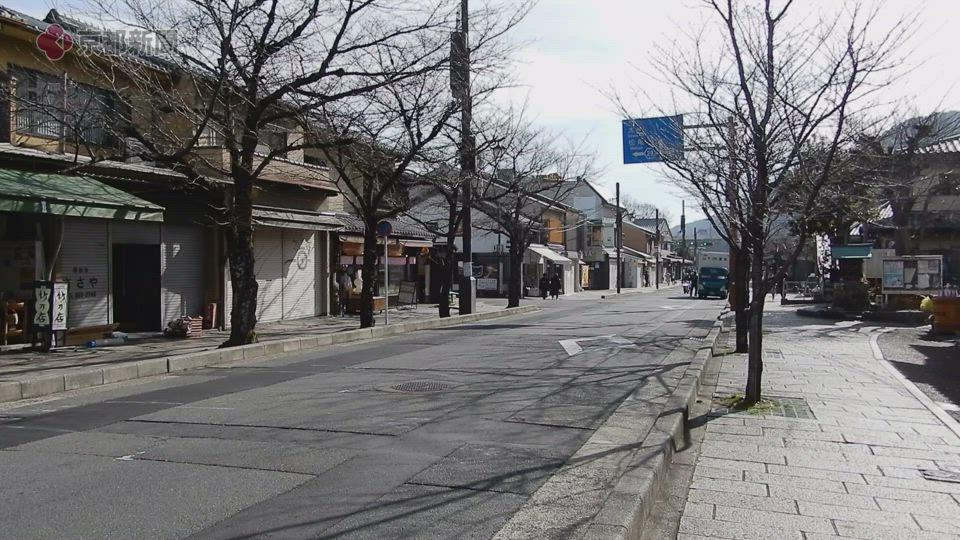 再び緊急事態宣言が発令され、閑散とする嵐山(2021年1月15日 京都市右京区)