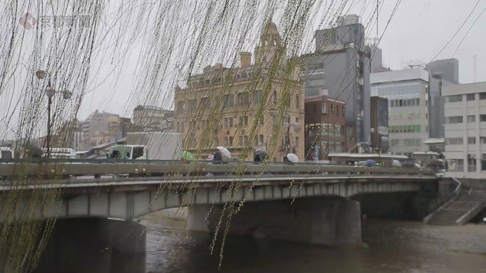 近畿地方で「春一番」(2021年3月2日、京都市・四条大橋)