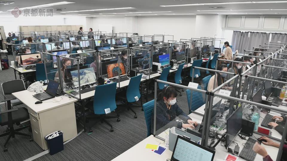 ワクチン接種の相談に応じる京都市コールセンター(2021年4月19日)